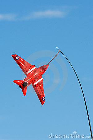 Red arrow toy plane