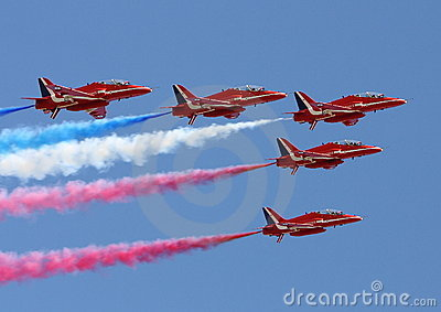 Red Arrows Editorial Stock Image