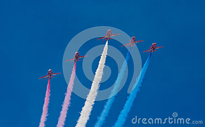 The Red Arrows Editorial Photography