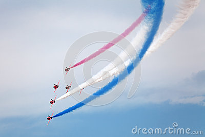 Red Arrows Editorial Stock Photo