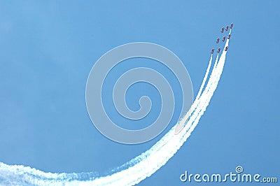Red arrows aerobatics