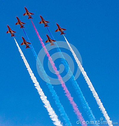Red Arrows Display Team Editorial Photo