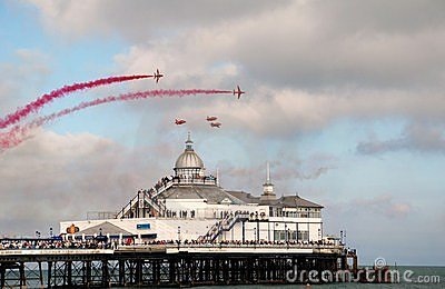 The Red Arrows, Eastbourne Editorial Stock Photo
