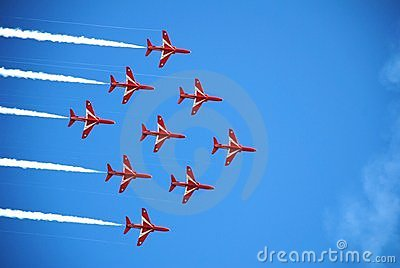 The Red Arrows, Eastbourne Editorial Photo