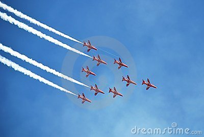 The Red Arrows, Eastbourne Editorial Stock Image