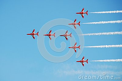 The Red Arrows, Hastings Editorial Stock Image