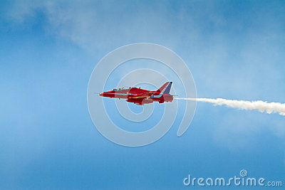 Red Arrows plane Editorial Stock Photo