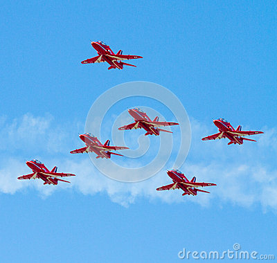 Red Arrows planes Editorial Photography