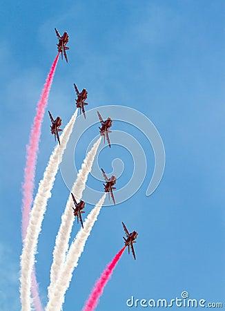 Red Arrows RAF Display Team Editorial Image