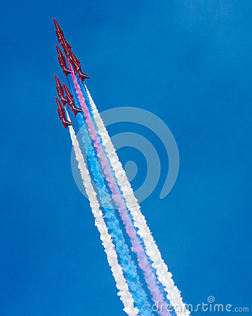 The Red Arrows RAF Display Team Editorial Photography