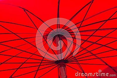 Red asian umbrella