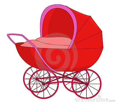 Red baby carriage