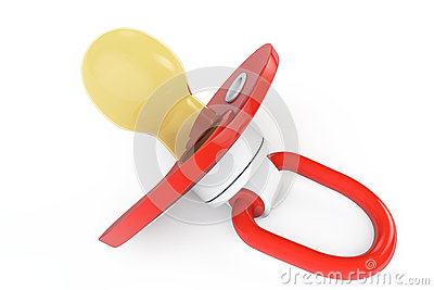 Red baby s pacifier