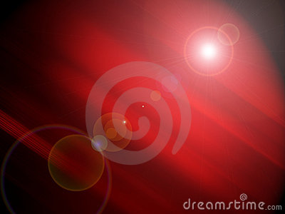Red background with flare