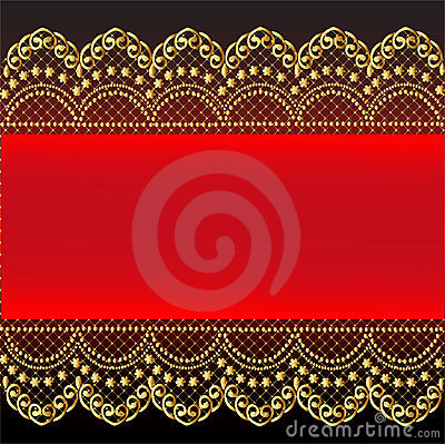 Free Red Background With Gold(en) Pattern And Net Stock Image - 23893471