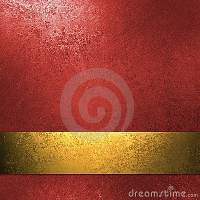 Free Red Background With Gold Ribbon Royalty Free Stock Images - 19065559