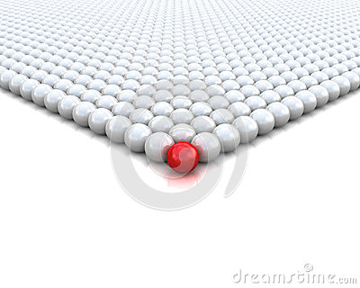 Red ball 3d render illustration