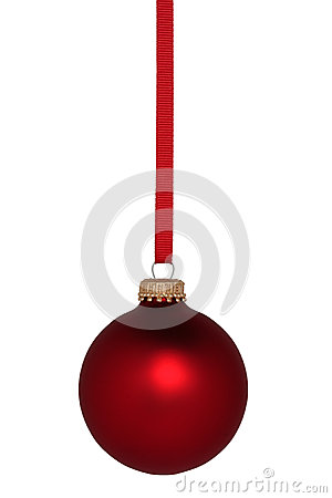 Free Red Ball Christmas Ornament Stock Images - 35295344