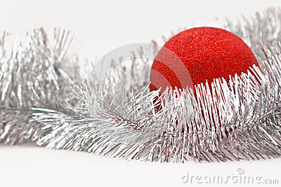 Red ball and garland