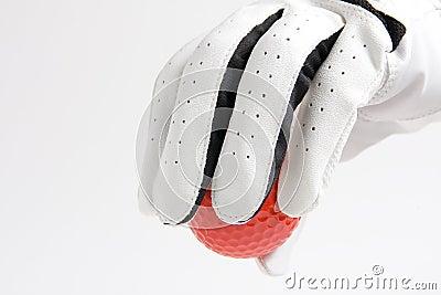 Red ball glove