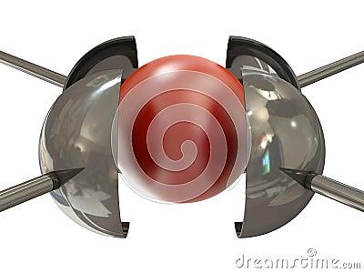 Red ball under pressure