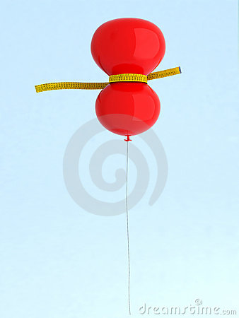 Red balloon on a diet
