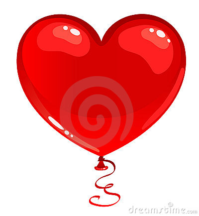 Red balloon heart.