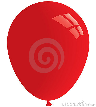 Red balloon. Vector