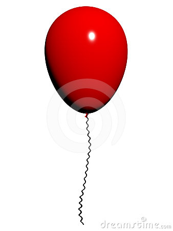 Red Balloon On White Background