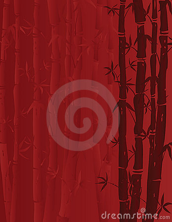 Red bamboo background