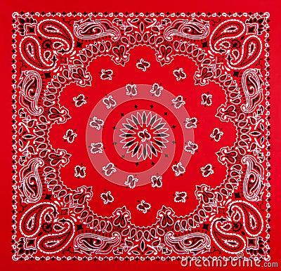 Red Bandana Print Stock Image - Image: 32075581