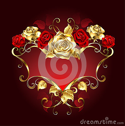 Free Red Banner With Roses Stock Photo - 57473330