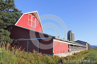 A red barn and Blue Sky