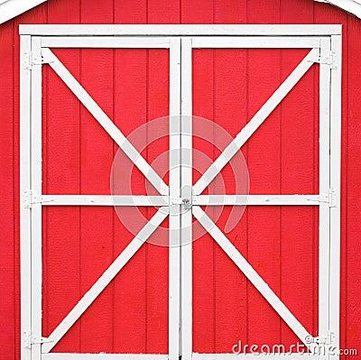 Free Red Barn Door Stock Photography - 56729422