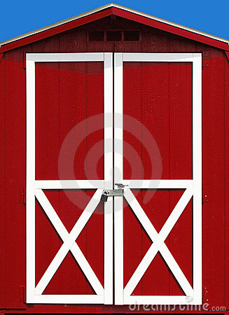 Free Red Barn Door Royalty Free Stock Photography - 6395087