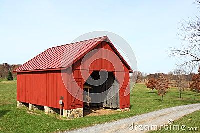 Red Barn in Farmland