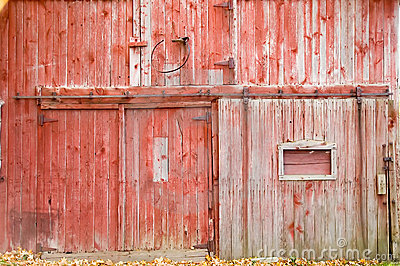 Red Barn Side Royalty Free Stock Image Image 336156