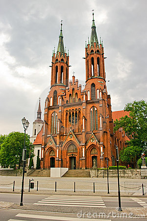 Red Basilica In Bialystok Royalty Free Stock Photography - Image: 19447087