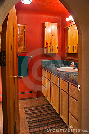 Free Red Bathroom Stock Photos - 6698633