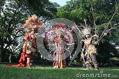Red Batik Editorial Image