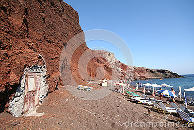 Red beach, Santorini Greece Editorial Photography
