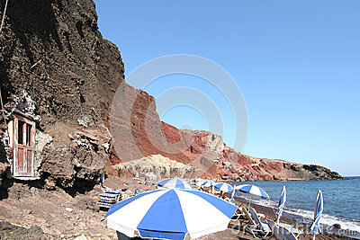 Red beach, Santorini Greece Editorial Stock Photo