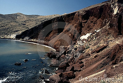 Red beach, Santorini island