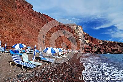 Red Beach, Santorini island (Thira), Greece