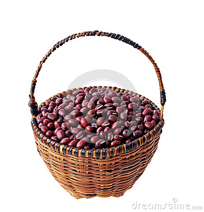 Red beans in basket