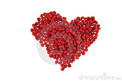 Red Beans Forming Heart Shape
