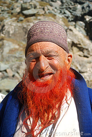 Red beard, Sonamarg, Kashmir, India Editorial Photo