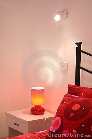 Free Red Bedroom Detail Royalty Free Stock Photos - 3423998