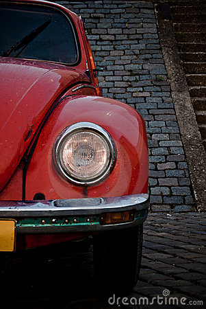 Red beetle front headlight
