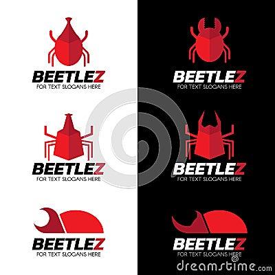 Free Red Beetle Logo Vector Set Art Design Stock Photo - 69036510